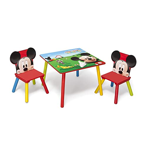 Delta Children Mickey Mouse Juego de Mesa y sillas, Tela, Multi, 60 x