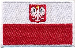 60 x 35 mm Polen Flagge Adler Polska Poland Flag Patch Aufnäher Aufbügler 0660 B
