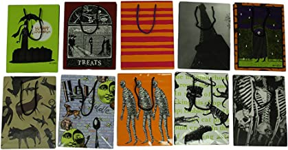 Set of 10 Edward Gorey Art Gift Bags in Assorted Designs 8 X 10 in.