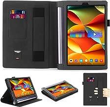 Lenovo YOGA Tab 3 Pro 10.1 X90F/Lenovo Yoga Tab3 Plus Case,Multi-angle support Premium PU Leather Cover with Magnetic Auto Wake/Sleep Feature Folio Cover For Lenovo YOGA Tab 3 Pro (black)