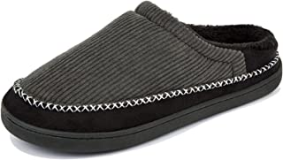 Men's Slippers Memory Foam House Slippers for Men Plush Lining Anti-Skid House Shoes Indoor &...