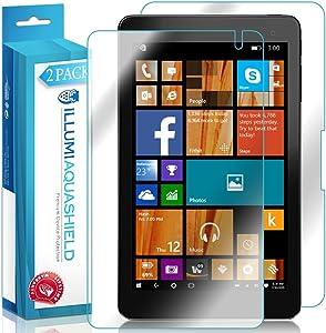 ILLUMI AquaShield Front + Back Protector Compatible with Dell Venue 8 Pro 5855 (2-Pack) HD Clear Screen Protector No-Bubble TPU Film