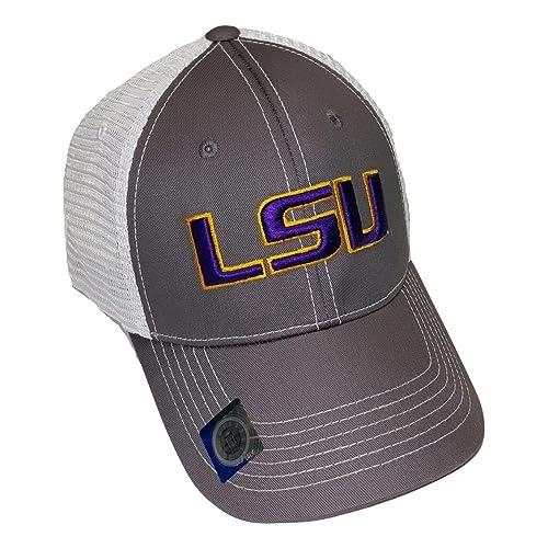cb80710a LSU Tigers Adjustable Gray Cap Mesh Back Hat