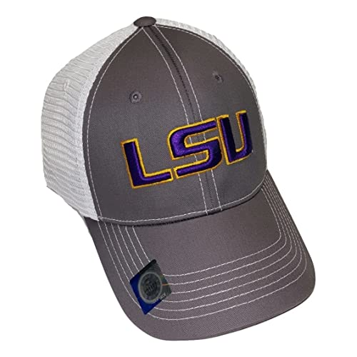 1ef08302207 LSU Tigers Adjustable Gray Cap Mesh Back Hat