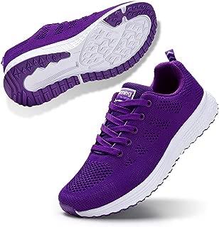 STQ Walking Shoes for Women Casual Lace Up Lightweight Tennis Running Shoes