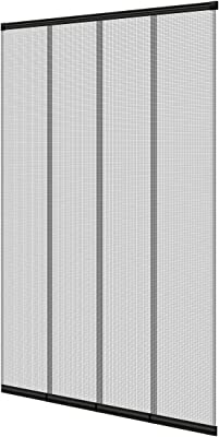 100 x 220 cm 4-part curtain with edge-reinforced fiberglass blades can be shortened individually Fly screen insect screen ECD Germany Insect Screen Slider Curtain Door Curtain