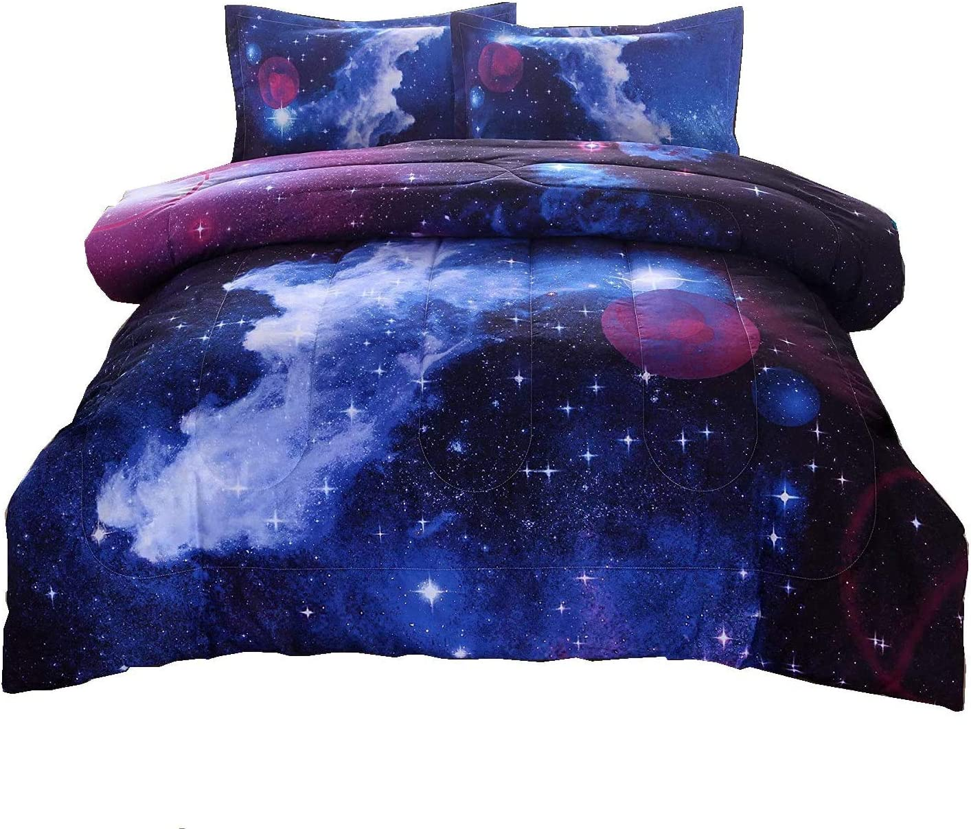 A Nice Night Galaxy Excellent Bedding Great interest Sets 3D Outer Comforter Printe Space
