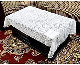Kuber Industries Center Table Cover White Cloth Net 40*60 Inches