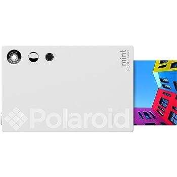 Zink Polaroid Mint Instant Print Digital Camera (White), Prints on Zink 2x3 Sticky-Backed Photo Paper