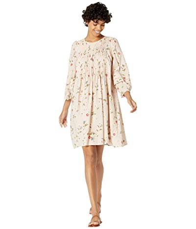 Madewell Long Sleeve Pin Tuck Easy Mini Dress