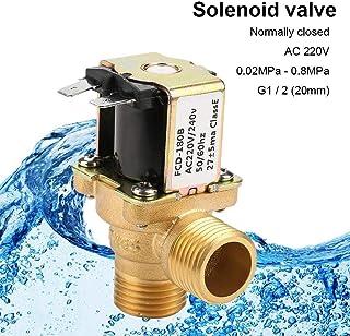 Electroválvula AC220V G1 / 2(20mm),Válvula Solenoide de Agua de Latón,