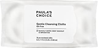 Paula's Choice Gentle Cleansing Cloths | Chamomile & Pomegranate | Fragrance Free for Sensitive Skin | 30 Makeup Facial Wipes