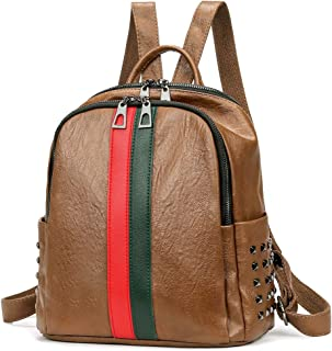 Artwell Women Backpack Purse Mini Leather Rucksack Fashion Small Daypack Travel Shoulder Handbag