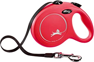 Flexi Classic L Tape 5 m, Red for Dogs Retractable Safety Leashes for Dogs Made in Germany