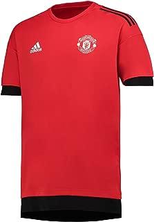 adidas 2017-2018 Man Utd UCL Training Football Soccer T-Shirt Jersey (Red)