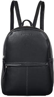 """STILORD Conner"""" Leder-Rucksack groß Vintage Daypack Backpack Unirucksack Rucksackhandtasche Business 13,3 Zoll Laptop A4 echtes Rindsleder, Farbe:schwarz"""