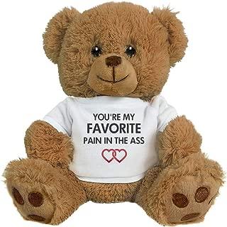FUNNYSHIRTS.ORG Funny Romantic Gift Bear for Couples: 8 Inch Teddy Bear Stuffed Animal