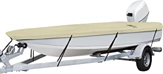 """Classic Accessories DryGuard Heavy Duty Waterproof Boat Cover For Utility/Fishing Boats 14` - 16` L, Up to 75"""" W"""