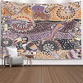Pamime Home Decor Tapestry for Christmas Colorful Pattern Australian Animals Ethnic Backdrop Wall Tapestry Hanging Tapestries for Dorm Room Bedroom Living Room 60x50 Inches 150x130cm