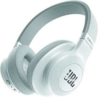 JBL E55BT Bluetoothヘッドホン 密閉型/オーバーイヤー/マイク付 ホワイト JBLE55BTWHT 【国内正規品】