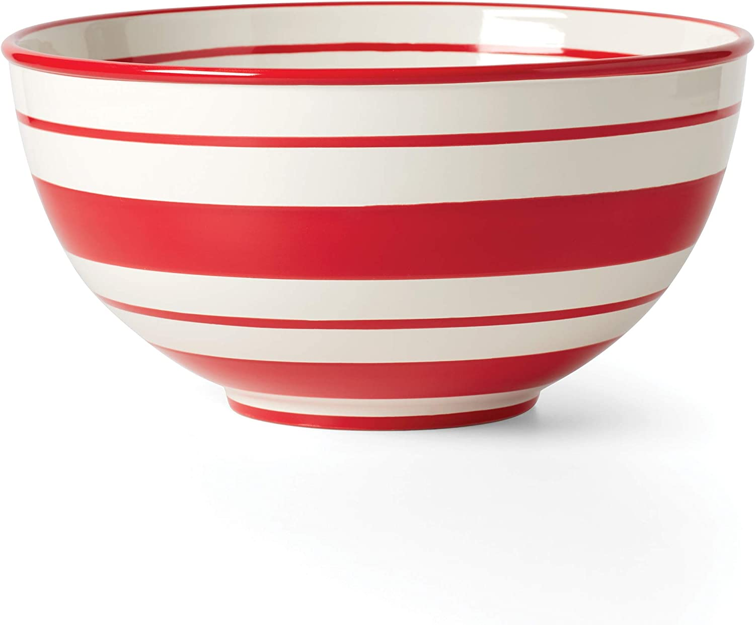 Lenox Holiday List price Stripe Mixing Bowl LB 8.0 Red Tampa Mall Green