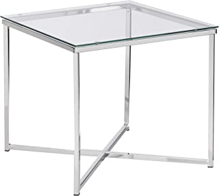 AC Design Furniture, Chrome Lamp Table, Silver