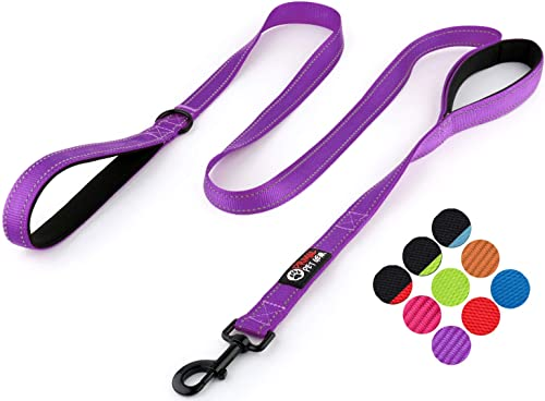 Primal Pet Gear Dog Leash 6ft Long - Traffic Padded Two Handle - Heavy Duty - Double Handles Lead for Control Safety ...
