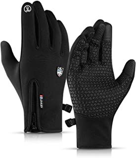 CURELIX Winter Gloves for Men and Women, Touch Screen Thermal Gloves Water Risistant Windproof Winter Gloves for Hiking, Cycling, Driving