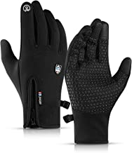CURELIX Winter Gloves for Men and Women, Touch Screen Thermal Gloves Water Risistant Windproof Winter Gloves for Hiking, C...