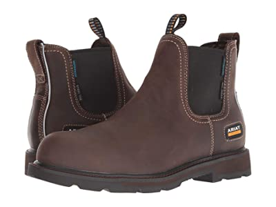 Ariat Groundbreaker Chelsea H2O Steel Toe (Dark Brown) Men