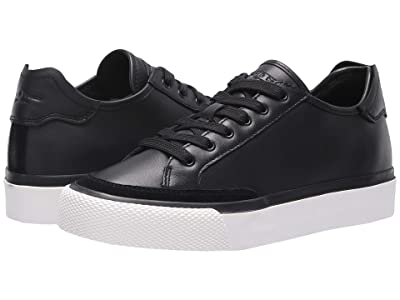 rag & bone RB Army Low Top Sneaker (Black Leather) Women
