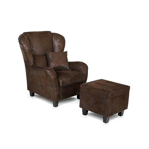 Sessel Mit Hocker Amazonde