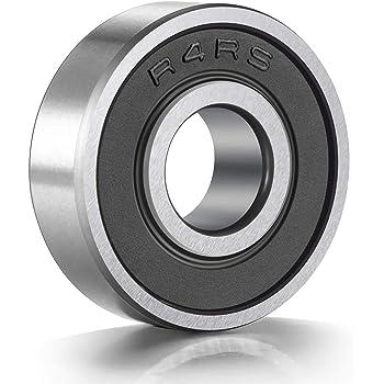 "Stainless Steel Ball Bearing Bearings R4zz 4 PCS SR4ZZ 1//4/"" x 5//8/"" x 0.196/"""