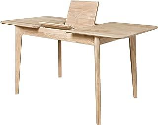 NORDICSTORY Table de salle à manger extensible France, bois massif de chêne, style nordique ou scandinave, design moderne ...