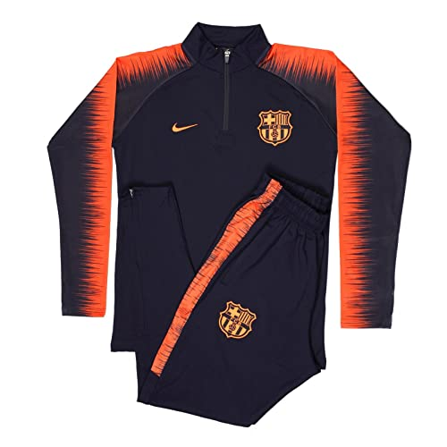 1511c6134f4 SS 2018/2019 Spain Sports Soccer Fan Barcelona Football Club Adult Black  Half Zip Jacket