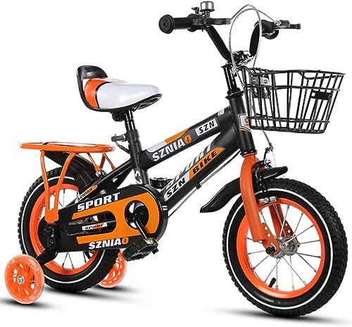 Fenfen Kinder fürr r 4-7 m liche und Weißiche Kinderwagen 16 Zoll Kinder fürrad High Carbon Stahlrahmen, Orange blau rot (Farbe   Orange)