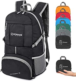 ZOMAKE Lightweight Travel Backpack, Foldable Water Resistant Hiking Daypack for Men Women