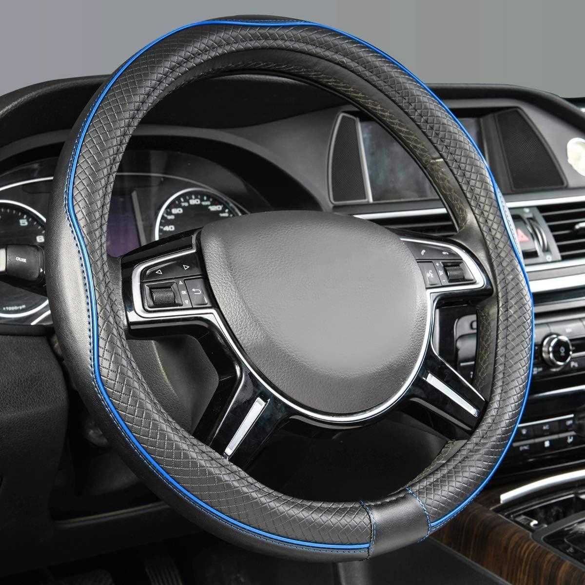 gris Basics Housse de volant 38 cm et coussinets de ceinture de s/écurit/é en similicuir et su/ède 38,1 cm