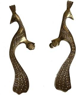 Aakrati Peacock Dor Handle - Cabinet Handles Brass Made in Royal Leaf Design - Antique Brass Drawer Pulls, Modern Cabinet ...