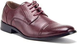 Men's Classic Leather Lined Derby Cap Toe Oxfords Dress Shoes