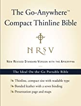 NRSV, The Go-Anywhere Compact Thinline Bible with the Apocrypha, Bonded Leather, Navy: The Ideal On-the-Go Portable Bible