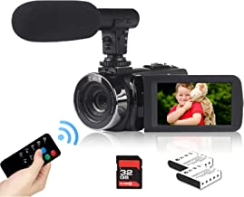 Video Camera Camcorder 2.7K Vlogging Camera for YouTube 42MP Digital Camera Camcorder 18X Digital Zoom 3.0 Inch Screen 270...