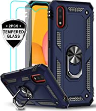 LeYi Samsung Galaxy A01 Case with Tempered Glass Screen Protector [2 Pack], [Military Grade] Defender Protective Phone Cas...
