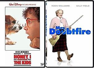 Zany Fun Family Pack - Disney Honey, I Shrunk The Kids & Mrs. Doubtfire Robin Williams Double Feature Movie set