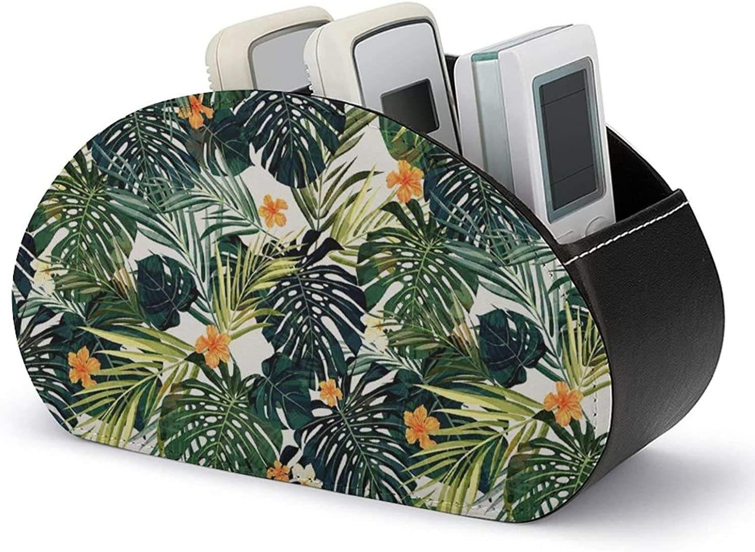 PU Leather Remote Control Holder Organization Botanical with low-pricing an 4 years warranty