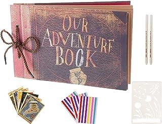 Boic Album Photo pour Le Scrapbooking, Our Adventure Book Livre Photo pour Voyage Saint Valentin Mariage Graduation Cadeau...