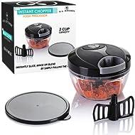 U.S. Kitchen Supply Mini Instant... U.S. Kitchen Supply Mini Instant Chopper Food Processor with Chopping & Mixing Blades - Slice,...