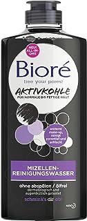 Bioré Mizellen-Reinigungs-Wasser mit Aktivkohle für normale, fettige Haut reinigt porentief, 300 ml