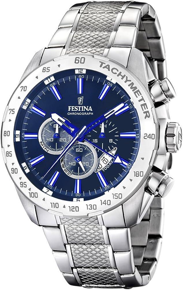 Festina orologio cronografo da uomo  in acciaio inossidabile multi-quadrante F16488/B