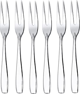 IMEEA Mini Salad Fruit Forks 18/10 Stainless Steel Tasting Appetizer Cocktail, 4.5-inch (6-Piece)